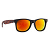 Okulary Majesty Shades L+ Black Tortoise / Red Mirror Lens