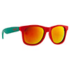 Okulary Majesty Shades L+ Red Turquoise / Red Mirror Lenses