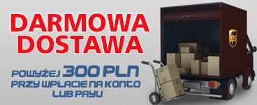 Darmowa dostawa dla zamówień od 300 zł przy wpłacie na konto lub PayU